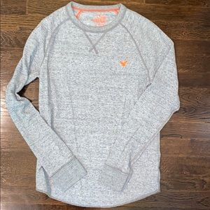 AEO Heritage Thermal Long Sleeve Light Grey M